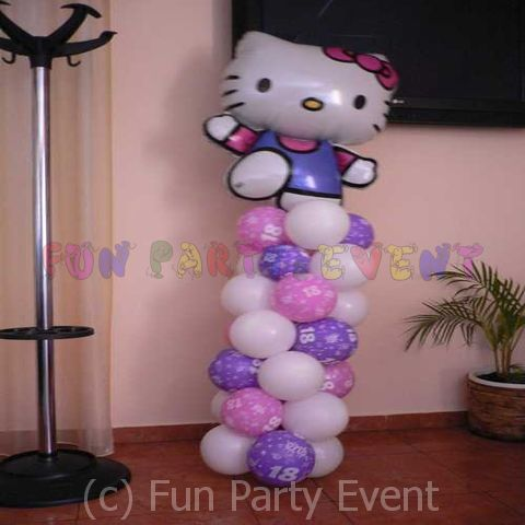 Decor baloane majorat: Hello Kitty